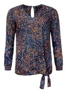 Dayz Bilou - Blouse in jeans blauw print