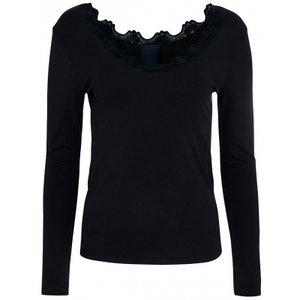 One two luxzuz  Aiavi T-Shirt lange mouwen Zwart