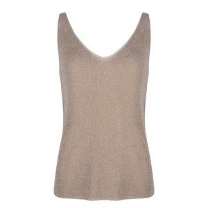 Esqualo Camisole lurex top Sand SP20.31003