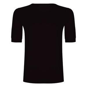 Esqualo Sweater s/slv button Zwart  SP20.03034