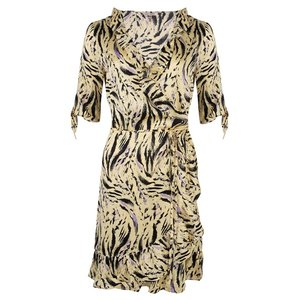 Esqualo Dress wrap around zebra print SP20.14020