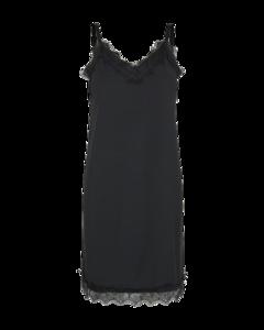 Freequent Zwarte kante jurk Bicco-st-dr 122625