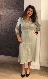 Esqualo Dress satin Olive SP20.31009