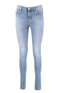 Yellow Blue Jeans New Soph Medium Blue met Hyper Stretch
