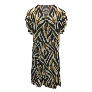 Flirt Korte zwarte jurk met zebra print