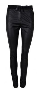 20to Pants Leather Look Punto Black