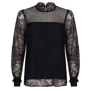 Esqualo Blouse mixed lace zwart
