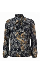 Dayz Olexa - Geprinte strike blouse met lange mouwen