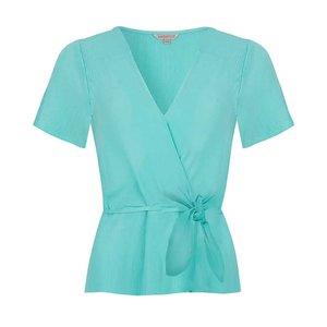 Esqualo Blouse V-neck knot Mint Green