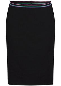 Tramontana Skirt Stiped Elastic Waistband Zwart D22-91-201