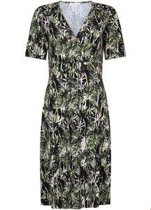 Tramontana Dress SS A-line Palm Print